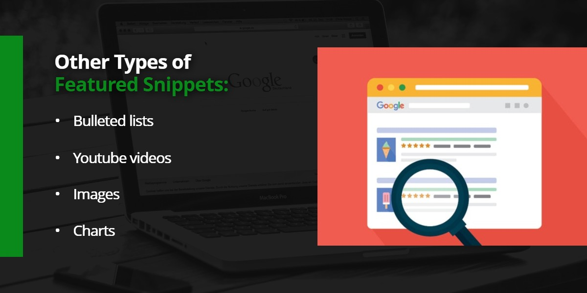 Other types of Featured Snippets | WSIeStrategies
