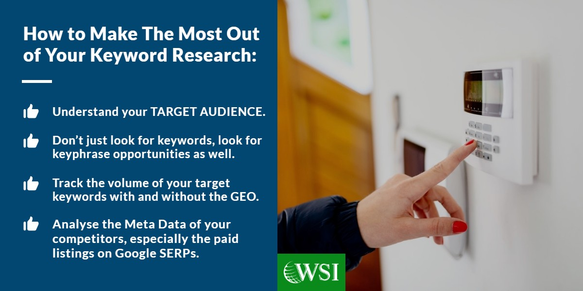 How to make the most out of your keyword research | lead generation tips for surveillance | WSI Ottawa