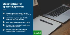Steps to rank for specific keywords | WSI Ottawa