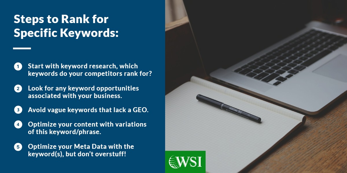 Steps to rank for specific keywords | WSI Ottawa