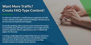 Want more traffic? Create FAQ-Type Content | WSIeStrategies