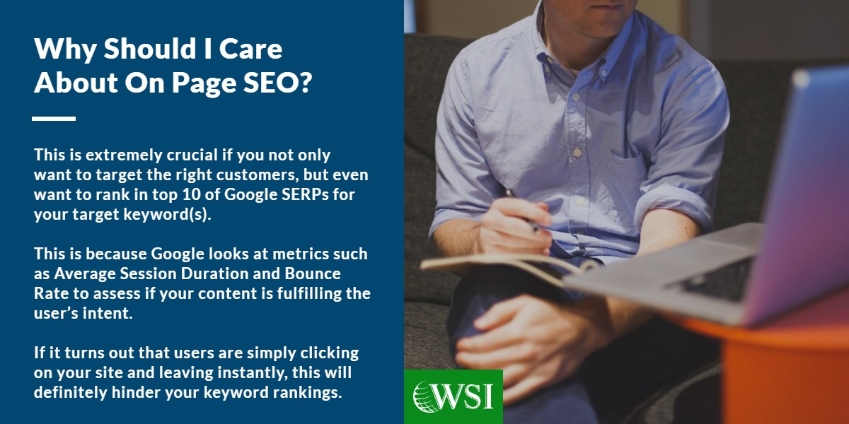 Why should I care about on page SEO? | lead generation tips for surveillance | WSI Ottawa