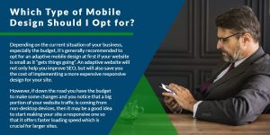 Which type of mobile design should I opt for? | WSI Ottawa