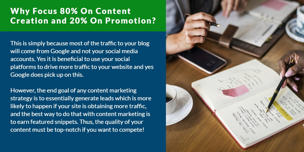 Why focus 80% on content creation and 20% on promotion? | WSI Ottawa