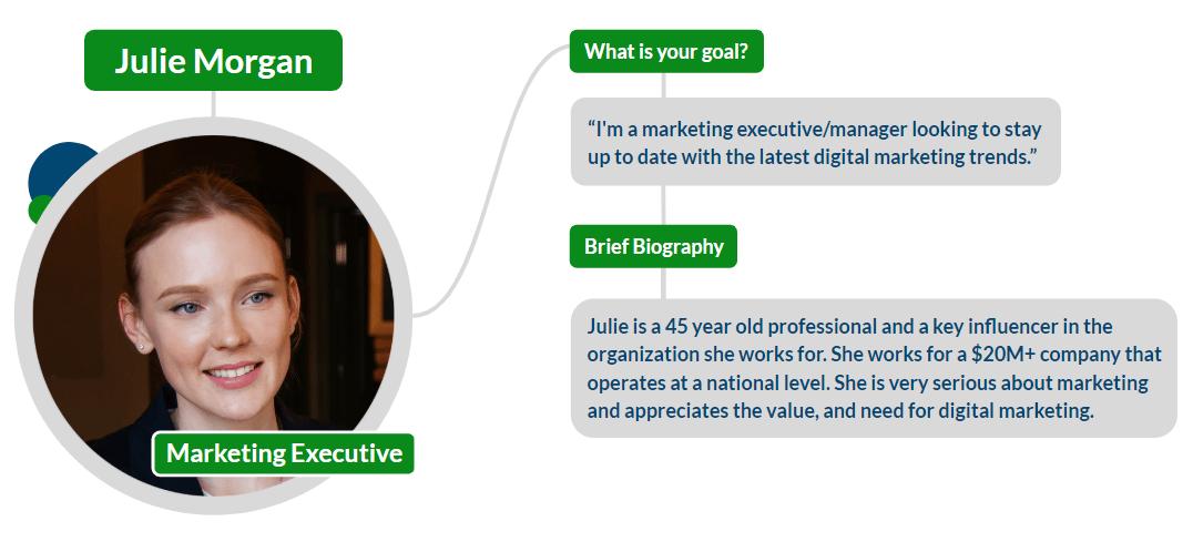Julie Morgan - Marketing Executive Persona